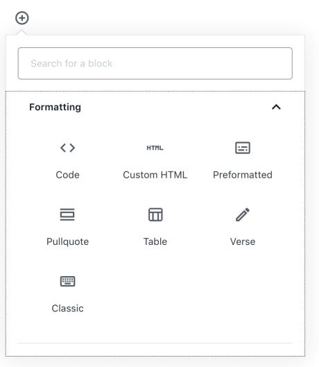 verse block - add via icon