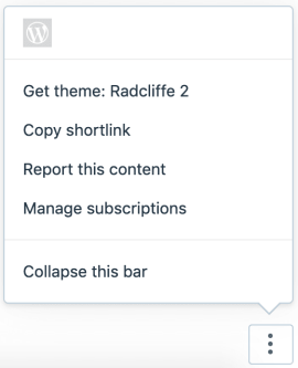 Action Bar - Logged In WP