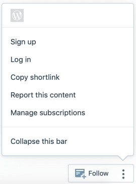Action Bar - Logged Out