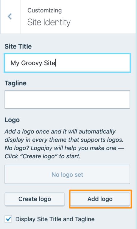 Add Logo button