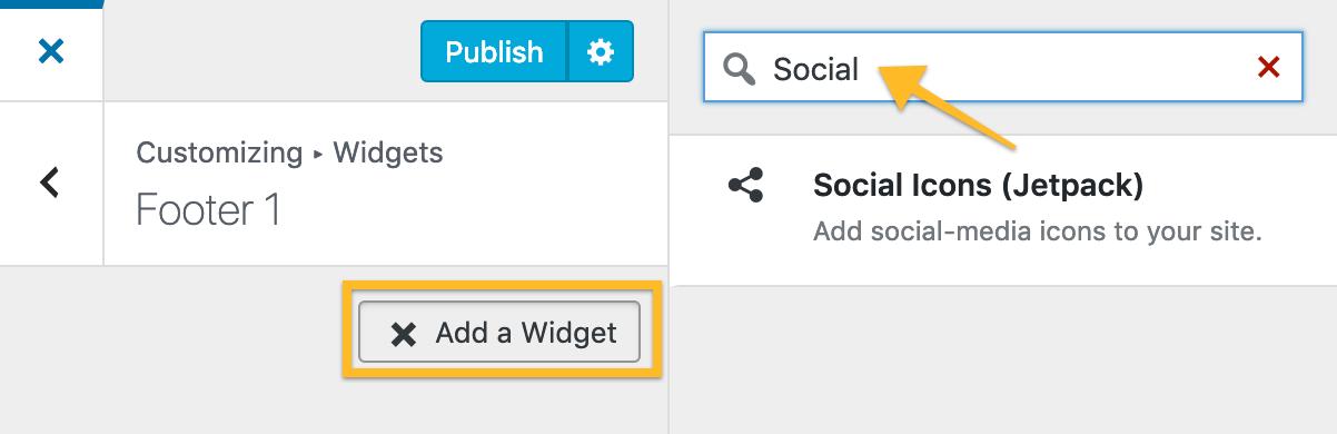 Social Icons Widget — Support — WordPress com