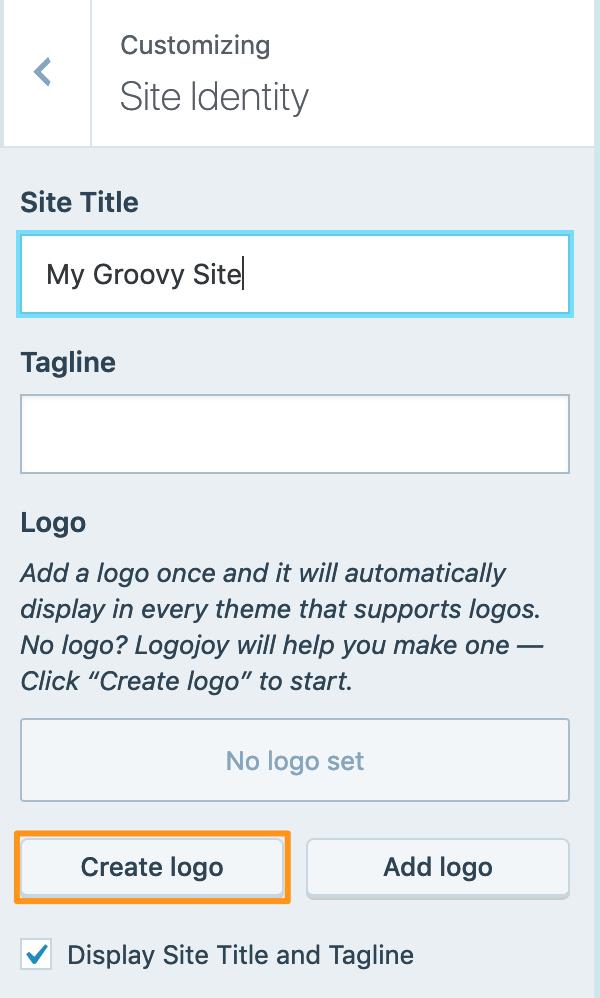 Create logo button