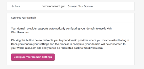 Domains - Connect Configuration