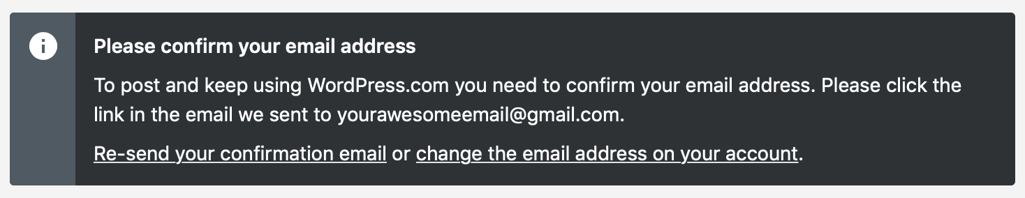 Privacy - Confirm your Email