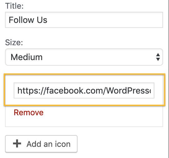 Add Social Media URL