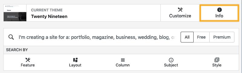 Themes Support Wordpress