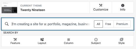Thema's - Zoeken en filteren