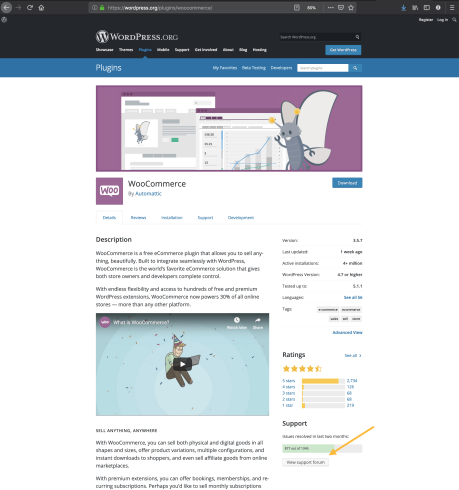 WordPress.org plugin pages