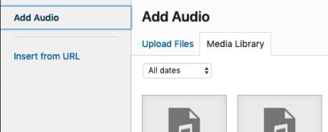 Audio Widget - Add Audio