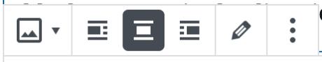 ブロックエディター - 画像ツールバー