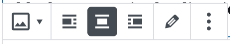 Block-Editor – Bild-Toolbar