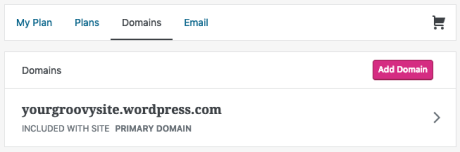 Change Site Address - Domains Page