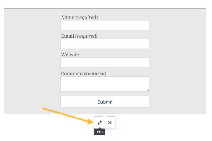 Form Block Support Wordpress