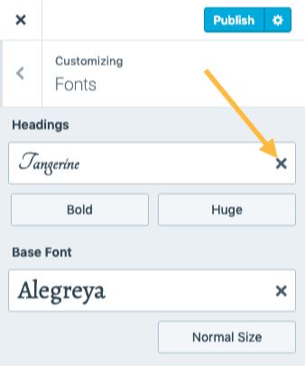 Custom Font - Reset to Default
