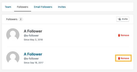 My Followers — Support — WordPress com