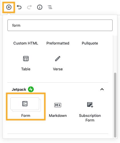 Form Block — Support — WordPress com