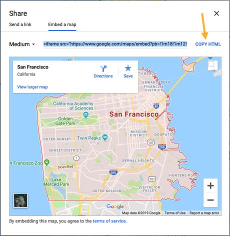 Google Maps - Share Embed