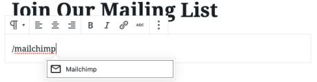 Mailchimp Shortcut