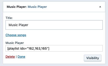 Audio Widget — Support — WordPress com