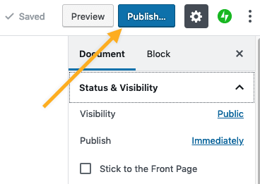 Post - Publish Post