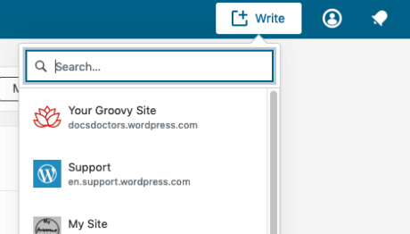 Beiträge– Website auswählen