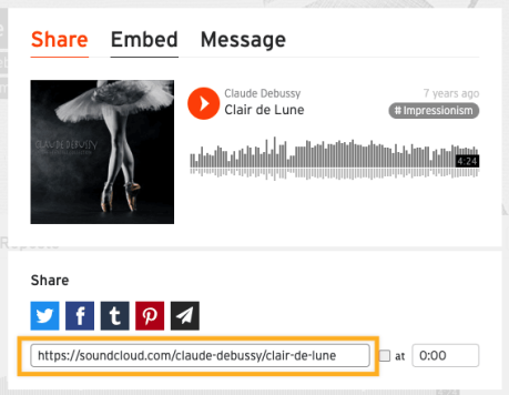 Soundcloud Share