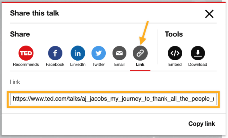 Ted Talk - Getting URL