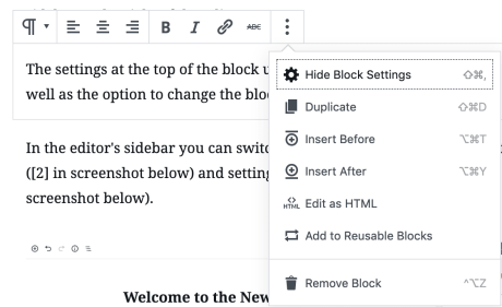 WordPress Editor - Block Editor