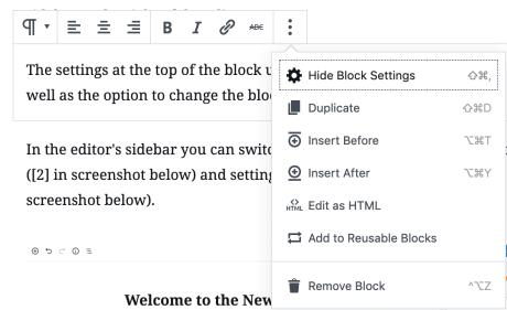 WordPress Editor – Block-Editor
