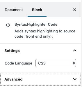 SyntaxHighlighter Code Block — Support — WordPress com