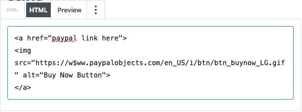 Блок HTML