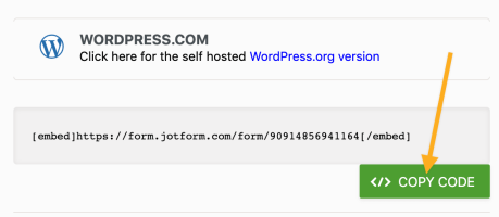 Jotform - Copy Embed Code