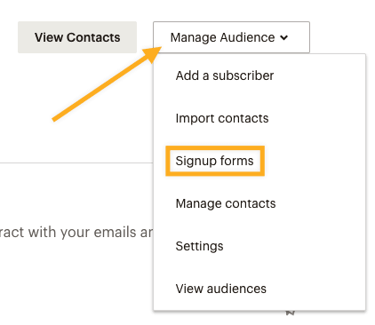 Mailchimp Signup Forms