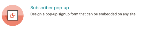 Mailchimp - Subscriber pop-up