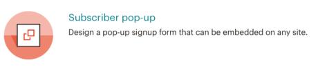 Mailchimp - Subscriber pop-up