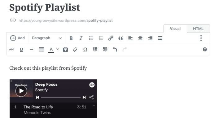 Spotify — Support — WordPress com
