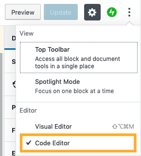 WordPress Editor - Code Editor