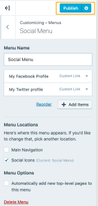 Add a Social Links Menu — Support — WordPress com
