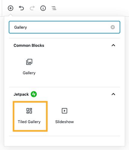 Tiled Gallery Block