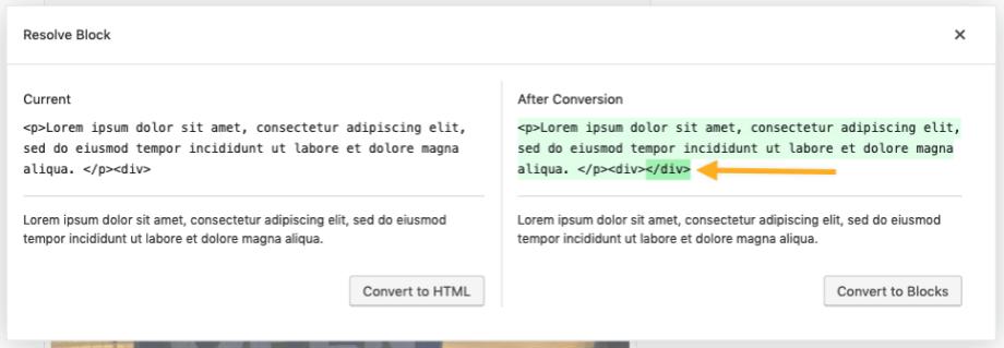 Resolve invalid HTML dialog.