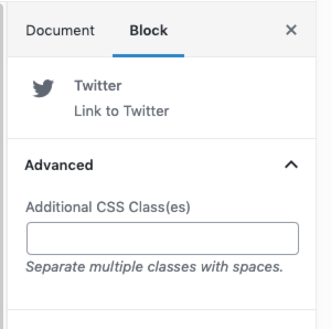 Image: Additional CSS Class field for individual icon