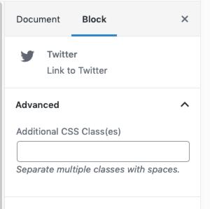 圖片:個別圖示的「其他 CSS 類別」欄位