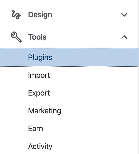 My Site → Tools → Plugins