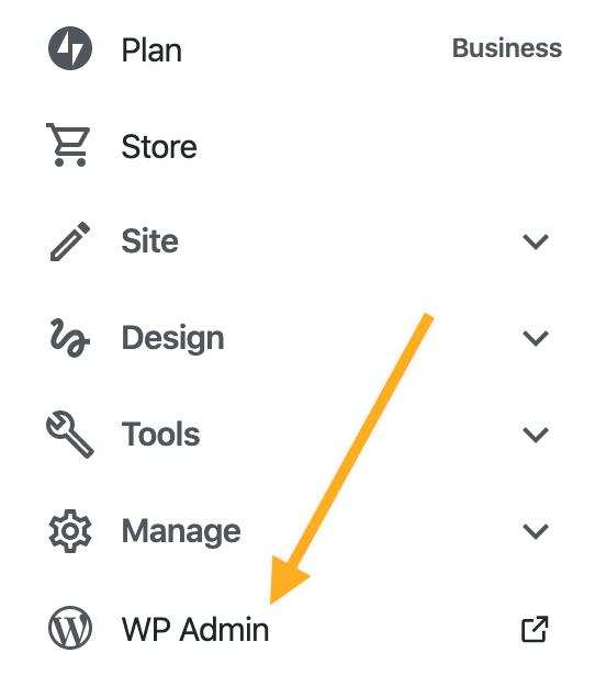 Manage Plugins - WP Admin Link