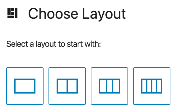 Image showing how to choose the number of columns you want to start with