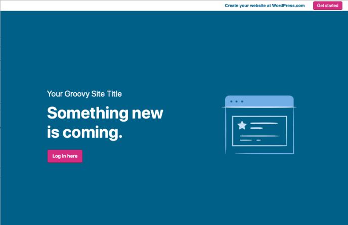 Ожидается запуск сайта