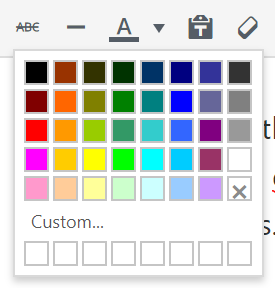 image of colors selection option