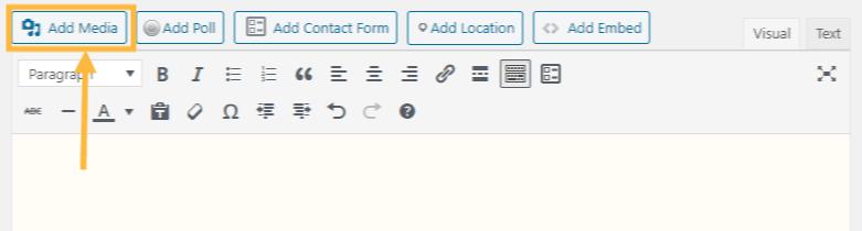 Add Media button in the Classic Editor