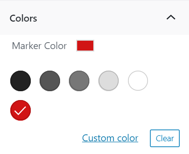 Choose the color of the location marker