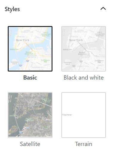 Map Block Styles